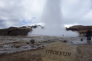 Strokkur en action - Geysir