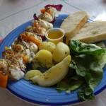 Brochettes de poisson sur le port - Husavik