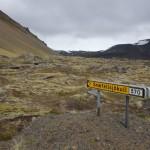 Entrée vers le centre de la terre - Arnarstapi