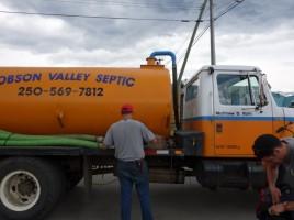 Camion d'épuration - Valemount, BC