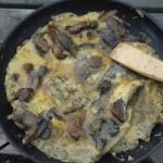 Omelette aux champignons sauvages - Yukon river, YT