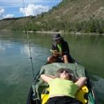 Activités à bord - Yukon river, YT