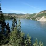 Vue de haut - Yukon river,YT
