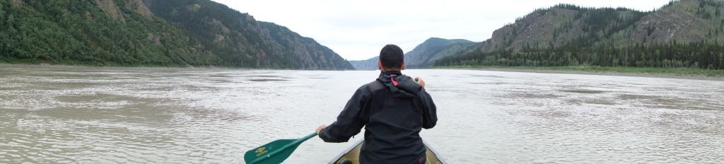 """Et on pagaie"" - Yukon river, YT"