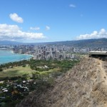 Honolulu vu depuis Diamond Head - Oahu, Hawaï