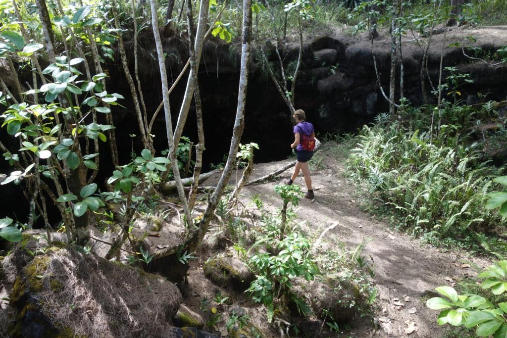 Entrée de la grotte, Mackenzie Park - Hawaii