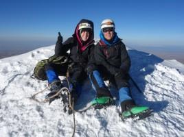 Au sommet à 6088 m - Huayna Potosi