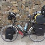 Vélo chargé - Bahia Inglesa