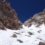 Couloir menant au sommet - Ojos del Salado