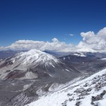 Cerro el Muerto vu depuis Ojos del Salado