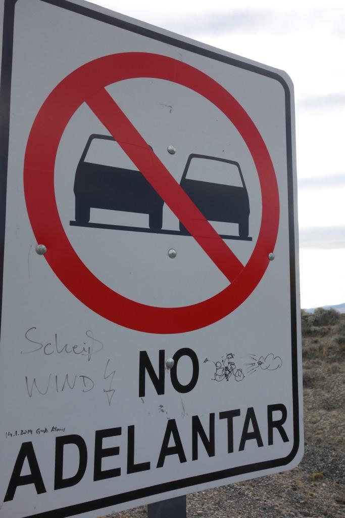 Cycliste Allemand qui n'aime pas le vent de patagonie