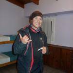 Arrvée de Benoit après 900 km de vélo, Ushuaia